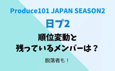プロデュース101シーズン2(日プ2)順位変動