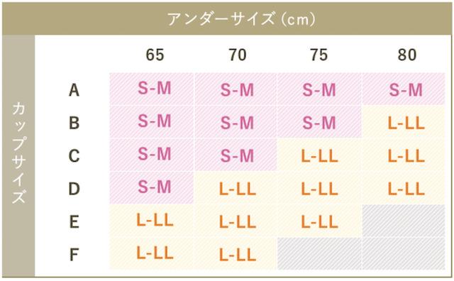 BELLETOPサイズ表